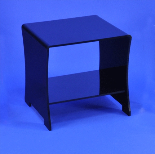 Table de chevet plexi noir for Table de chevet noir