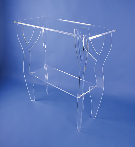 console plexiglas transparent. Black Bedroom Furniture Sets. Home Design Ideas