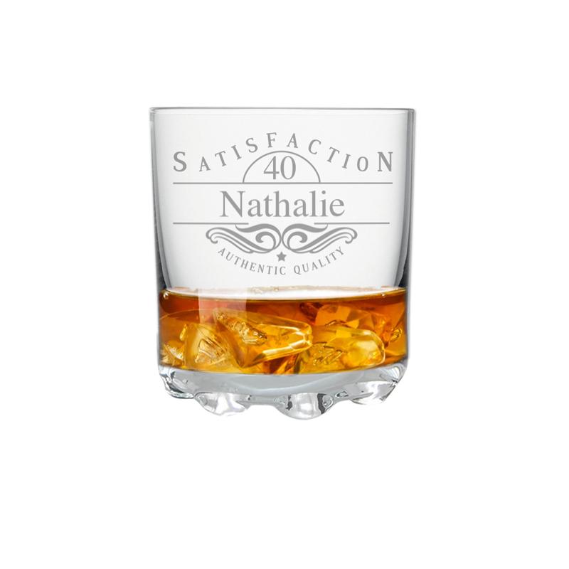Incroyable Verre à Whisky Personnalisé Anniversaire