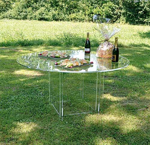 Table Plexiglass Demontable